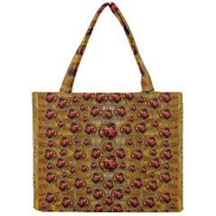Angels In Gold And Flowers Of Paradise Rocks Mini Tote Bag
