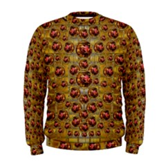 Angels In Gold And Flowers Of Paradise Rocks Men s Sweatshirt