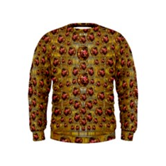 Angels In Gold And Flowers Of Paradise Rocks Kids  Sweatshirt