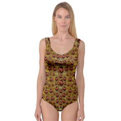 Angels In Gold And Flowers Of Paradise Rocks Princess Tank Leotard