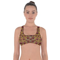 Angels In Gold And Flowers Of Paradise Rocks Got No Strings Sports Bra
