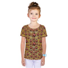 Angels In Gold And Flowers Of Paradise Rocks Kids  One Piece Tee