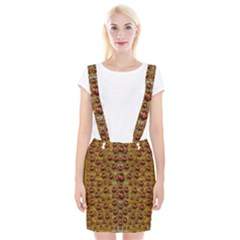 Angels In Gold And Flowers Of Paradise Rocks Braces Suspender Skirt