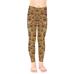 Angels In Gold And Flowers Of Paradise Rocks Kids  Legging