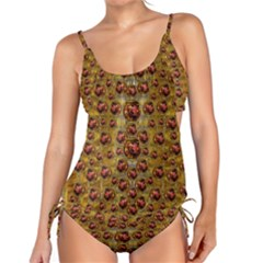 Angels In Gold And Flowers Of Paradise Rocks Tankini