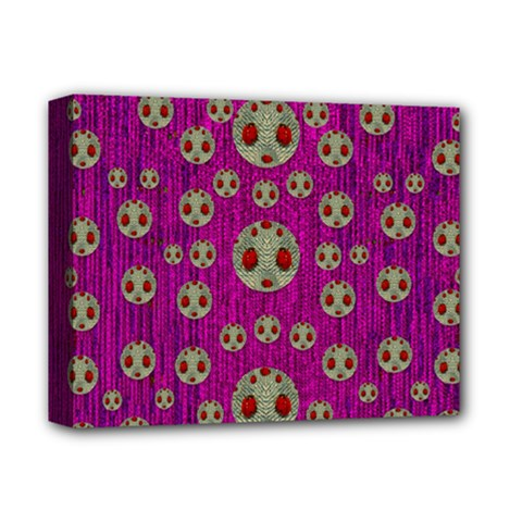Ladybug In The Forest Of Fantasy Deluxe Canvas 14  x 11