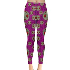 Ladybug In The Forest Of Fantasy Leggings