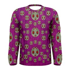 Ladybug In The Forest Of Fantasy Men s Long Sleeve Tee