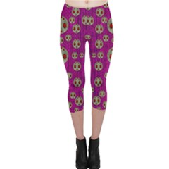Ladybug In The Forest Of Fantasy Capri Leggings