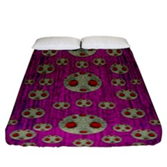 Ladybug In The Forest Of Fantasy Fitted Sheet (King Size)