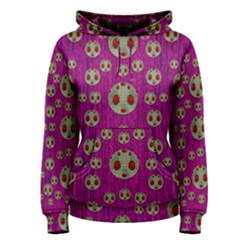 Ladybug In The Forest Of Fantasy Women s Pullover Hoodie