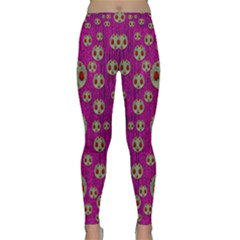Ladybug In The Forest Of Fantasy Classic Yoga Leggings