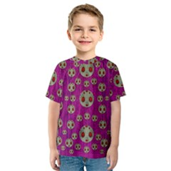Ladybug In The Forest Of Fantasy Kids  Sport Mesh Tee