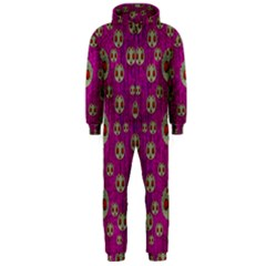 Ladybug In The Forest Of Fantasy Hooded Jumpsuit (men)