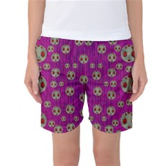 Ladybug In The Forest Of Fantasy Women s Basketball Shorts