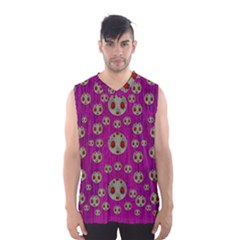Ladybug In The Forest Of Fantasy Men s Basketball Tank Top