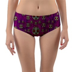 Ladybug In The Forest Of Fantasy Reversible Mid-Waist Bikini Bottoms