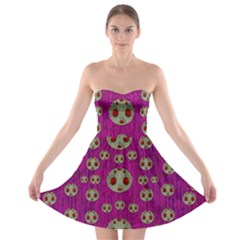 Ladybug In The Forest Of Fantasy Strapless Bra Top Dress