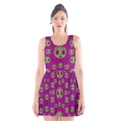 Ladybug In The Forest Of Fantasy Scoop Neck Skater Dress