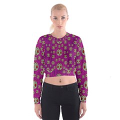Ladybug In The Forest Of Fantasy Cropped Sweatshirt