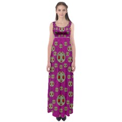 Ladybug In The Forest Of Fantasy Empire Waist Maxi Dress