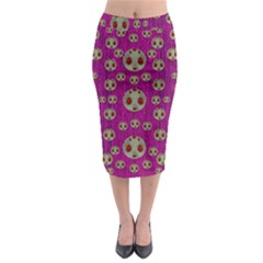 Ladybug In The Forest Of Fantasy Midi Pencil Skirt