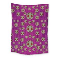 Ladybug In The Forest Of Fantasy Medium Tapestry