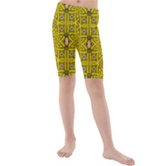 Stars And Flowers In The Forest Of Paradise Love Popart Kids  Mid Length Swim Shorts