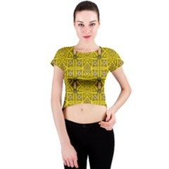 Stars And Flowers In The Forest Of Paradise Love Popart Crew Neck Crop Top