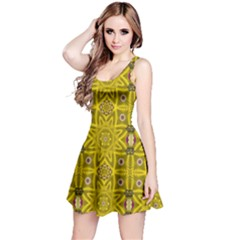 Stars And Flowers In The Forest Of Paradise Love Popart Reversible Sleeveless Dress