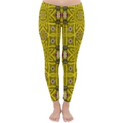 Stars And Flowers In The Forest Of Paradise Love Popart Classic Winter Leggings