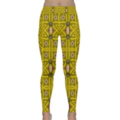 Stars And Flowers In The Forest Of Paradise Love Popart Classic Yoga Leggings