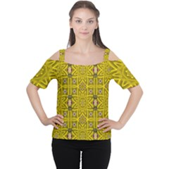 Stars And Flowers In The Forest Of Paradise Love Popart Women s Cutout Shoulder Tee