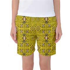 Stars And Flowers In The Forest Of Paradise Love Popart Women s Basketball Shorts