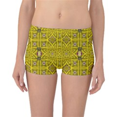 Stars And Flowers In The Forest Of Paradise Love Popart Boyleg Bikini Bottoms