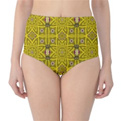 Stars And Flowers In The Forest Of Paradise Love Popart High Waist Bikini Bottoms