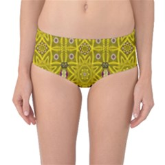 Stars And Flowers In The Forest Of Paradise Love Popart Mid-Waist Bikini Bottoms