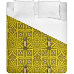Stars And Flowers In The Forest Of Paradise Love Popart Duvet Cover (California King Size)