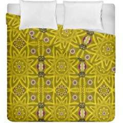 Stars And Flowers In The Forest Of Paradise Love Popart Duvet Cover Double Side (King Size)