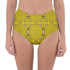 Stars And Flowers In The Forest Of Paradise Love Popart Reversible High-Waist Bikini Bottoms