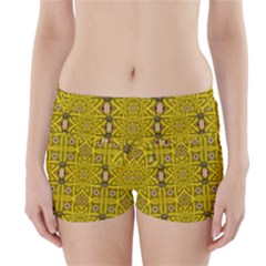 Stars And Flowers In The Forest Of Paradise Love Popart Boyleg Bikini Wrap Bottoms