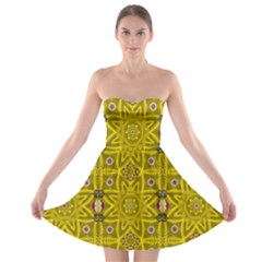 Stars And Flowers In The Forest Of Paradise Love Popart Strapless Bra Top Dress
