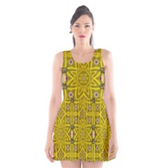 Stars And Flowers In The Forest Of Paradise Love Popart Scoop Neck Skater Dress