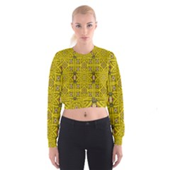 Stars And Flowers In The Forest Of Paradise Love Popart Cropped Sweatshirt