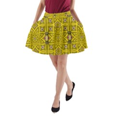 Stars And Flowers In The Forest Of Paradise Love Popart A-Line Pocket Skirt