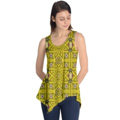 Stars And Flowers In The Forest Of Paradise Love Popart Sleeveless Tunic