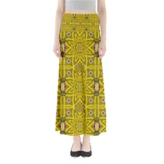 Stars And Flowers In The Forest Of Paradise Love Popart Full Length Maxi Skirt