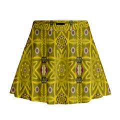 Stars And Flowers In The Forest Of Paradise Love Popart Mini Flare Skirt