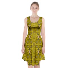 Stars And Flowers In The Forest Of Paradise Love Popart Racerback Midi Dress