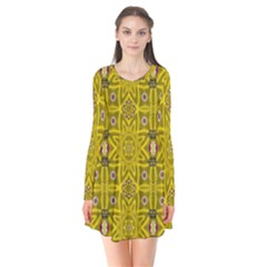 Stars And Flowers In The Forest Of Paradise Love Popart Flare Dress
